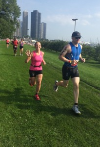 Loving life at the Chicago Triathlon.